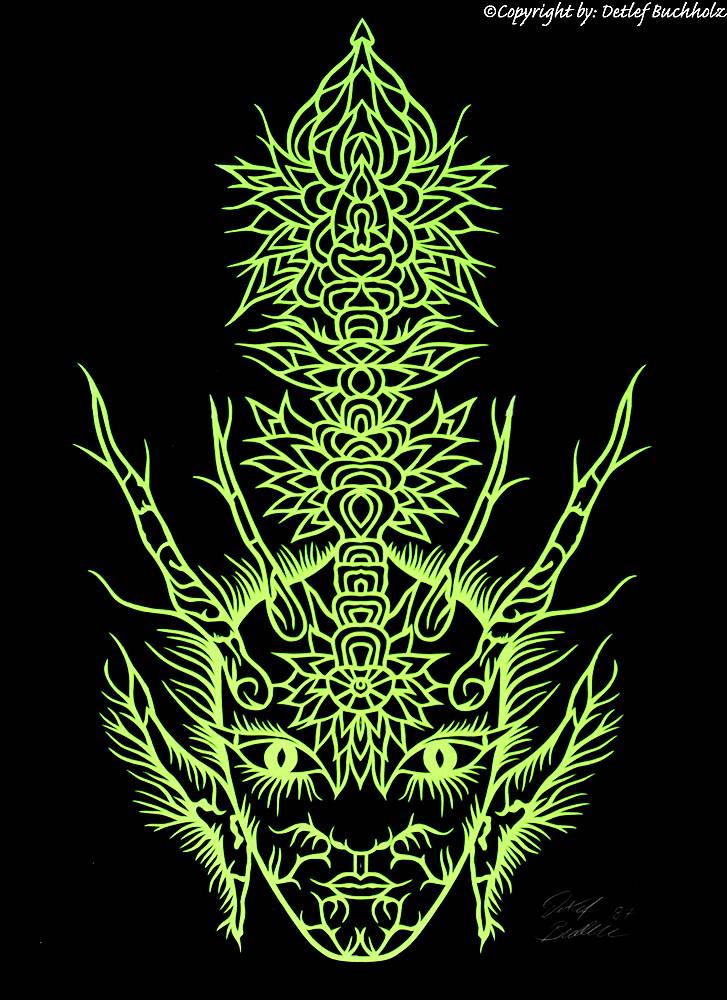 15 Gesicht in Grün